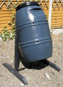 Recycled Plastic Compost Tumbler The Dark Destroyer